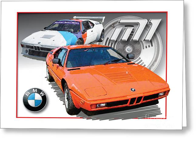 Bmw M-1 Greeting Card by Dan Knowler