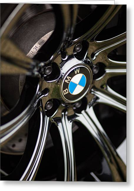 Bmw M5 Black Chrome Wheels Greeting Card by Mike Reid