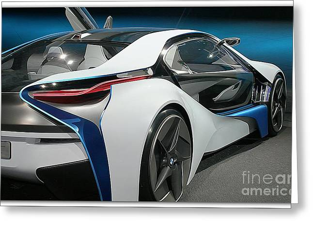 Level Of Speed Greeting Cards - BMW vision VL Greeting Card by Stefano Senise