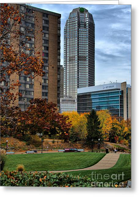 Campus Greeting Cards - BNY Mellon from Duquesne University Campus HDR Greeting Card by Amy Cicconi