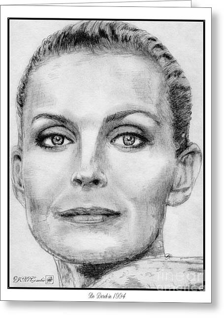 Fame Drawings Greeting Cards - Bo Derek in 1994 Greeting Card by J McCombie