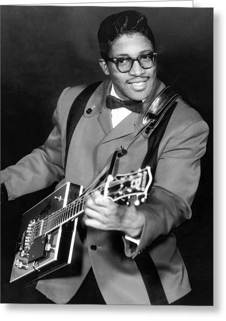 Bos Greeting Cards - Bo Diddley Greeting Card by Silver Screen
