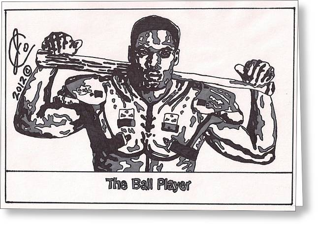 Baseball Drawings Greeting Cards - Bo Jackson  Greeting Card by Jeremiah Colley