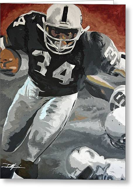 Best Sellers -  - Don Medina Greeting Cards - Bo Jackson Greeting Card by Don Medina