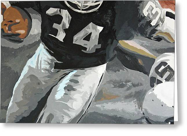 Bo Jackson Greeting Card by Don Medina
