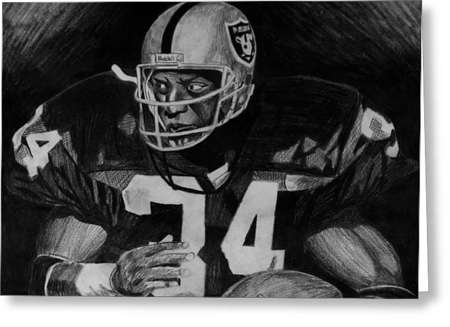 Bo Jackson Greeting Card by Jeremy Moore