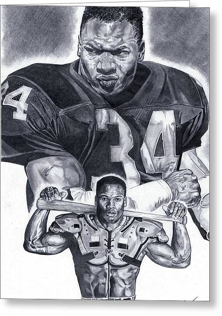 Bo Jackson Greeting Card by Jonathan Tooley
