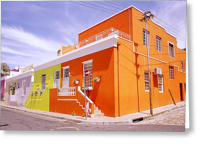 African Heritage Greeting Cards - Bo Kaap Bold Greeting Card by Shaun Higson
