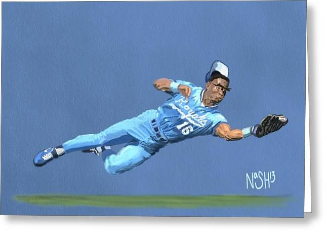 Bo Knows Defense Greeting Card by Jeremy Nash