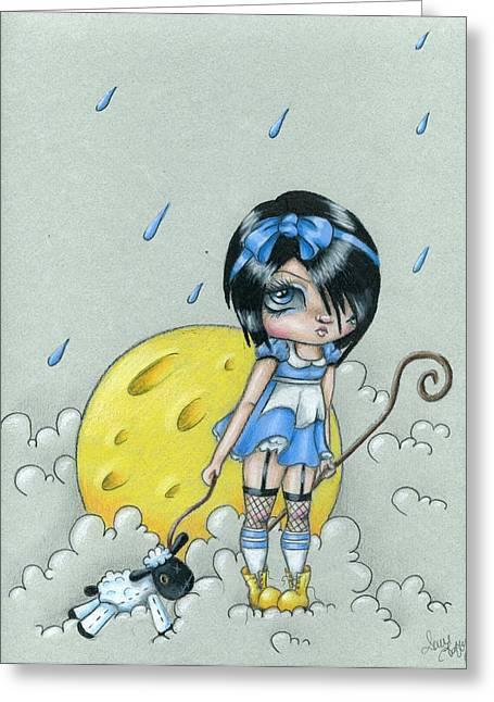 Nursery Rhyme Drawings Greeting Cards - Bo Peep Greeting Card by Sour Taffy