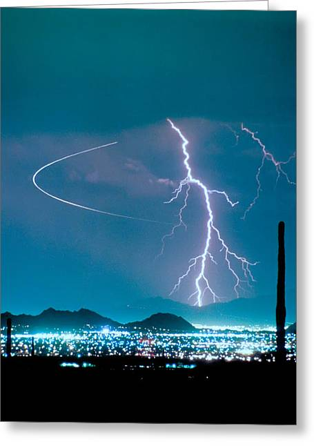 Bo Trek The Lightning Man Greeting Card by James BO  Insogna