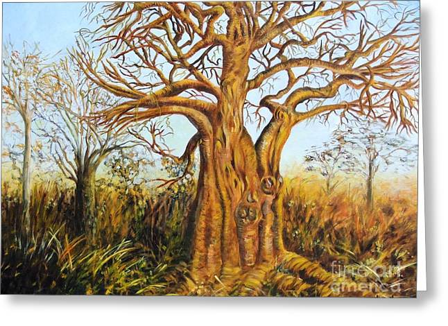 Caroline Street Greeting Cards - Baobab Tree Greeting Card by Caroline Street