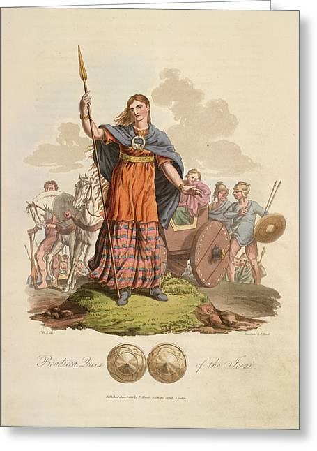 Boadicea Queen Of The Iceni Greeting Card by British Library