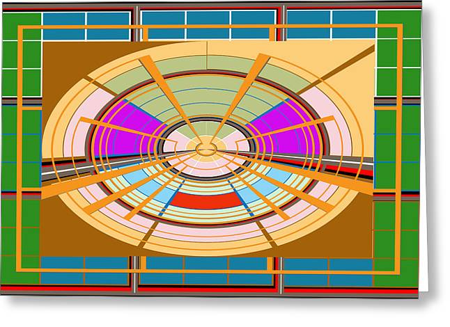 Board Games Play Ground Artistic Graphic Colorful Digitalart Unique Signature Art101 Basics Round Ci Greeting Card by Navin Joshi