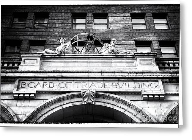 Poster Board Greeting Cards - Board of Trade Building Greeting Card by John Rizzuto