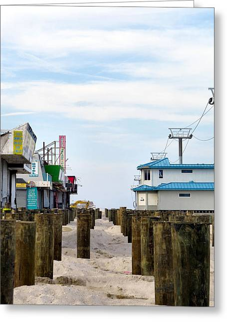Hurricane Sandy Photographs Greeting Cards - Board Walk Wanna Be Greeting Card by Michelle Milano