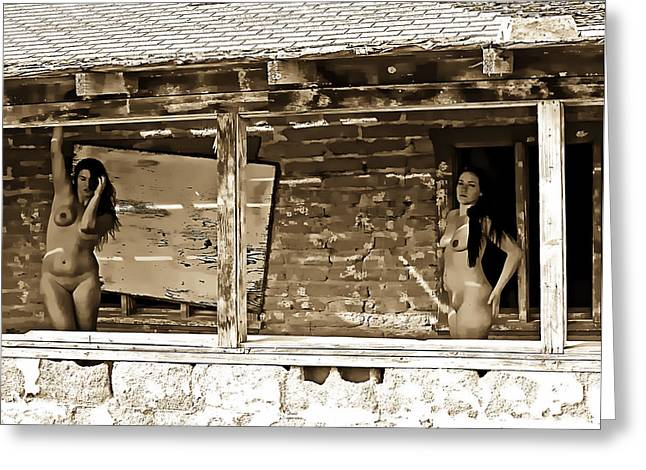 Boarded Up But Not Quite Abandoned Greeting Card by Ken Evans