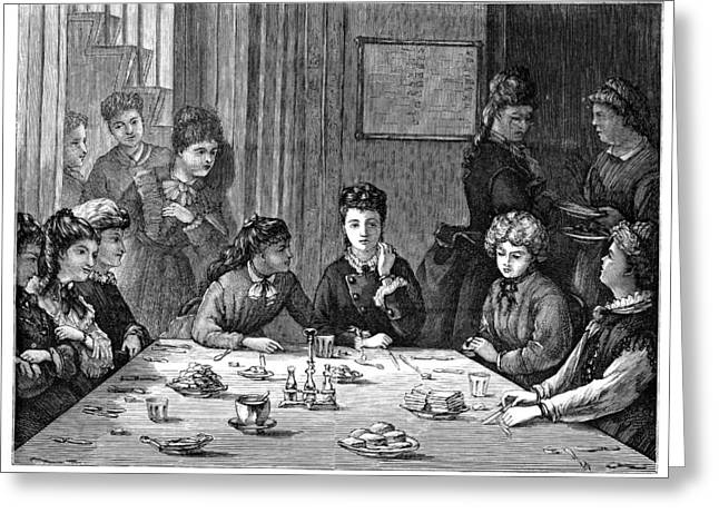 Boarding School, 1873 Greeting Card by Granger