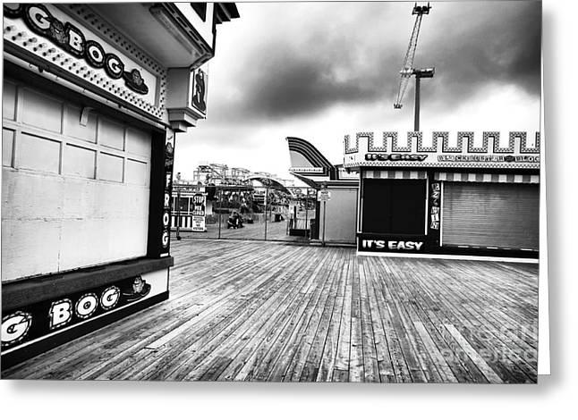 Boardwalk Angles Greeting Card by John Rizzuto