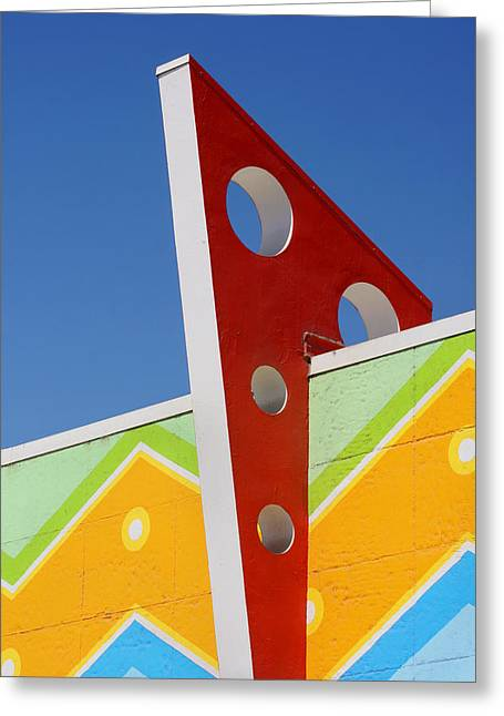 Santa Cruz Art Greeting Cards - Boardwalk Architecture Greeting Card by Art Block Collections