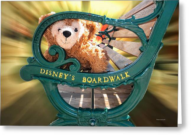 Magical Place Photographs Greeting Cards - Boardwalk Bear Greeting Card by Thomas Woolworth