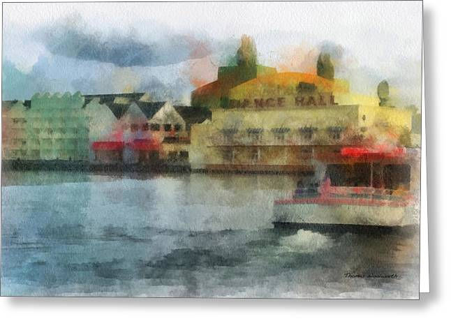 Hospital Theme Greeting Cards - Boardwalk Boat Ride WDW 01 Photo Art Greeting Card by Thomas Woolworth