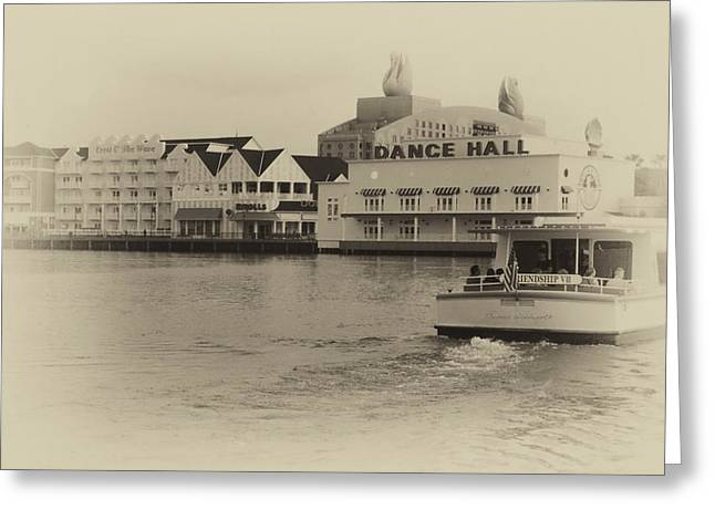 Hospital Theme Greeting Cards - Boardwalk Boat Ride WDW in Heirloom Greeting Card by Thomas Woolworth