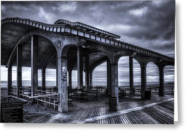 York Beach Greeting Cards - Boardwalk Brooklyn08 Greeting Card by Svetlana Sewell