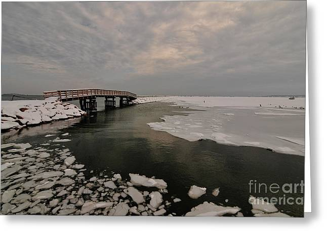 Plymouth Massachusetts Greeting Cards - Boardwalk Greeting Card by Catherine Reusch  Daley