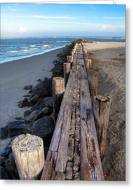 Vanishing Greeting Cards - Boardwalk - Charleston SC Greeting Card by Drew Castelhano