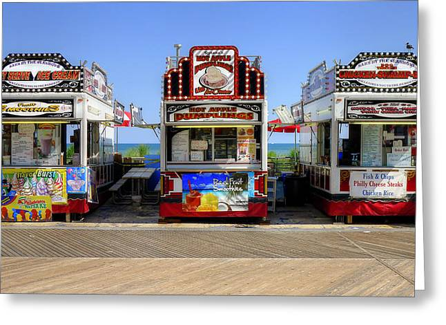 Boardwalk Dining Greeting Card by Glenn DiPaola