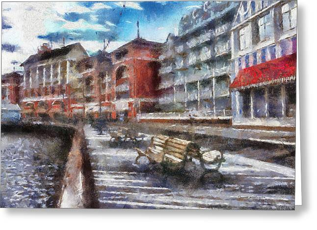 Hospital Theme Greeting Cards - Boardwalk Early Morning WDW 02 Photo Art Greeting Card by Thomas Woolworth