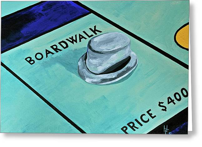 Monopoly Greeting Cards - Boardwalk Greeting Card by Herschel Fall