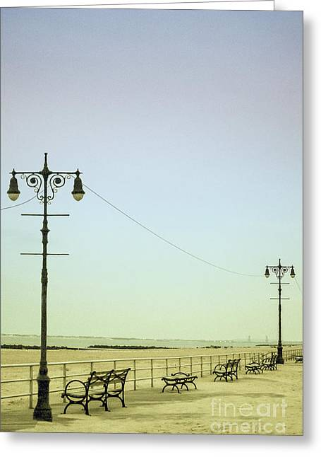 Iconic Places Greeting Cards - Boardwalk Greeting Card by Margie Hurwich