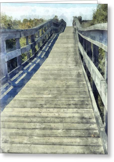 Boardwalk Greeting Cards - Boardwalk Phone Case Greeting Card by Edward Fielding
