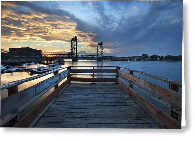 Prescott Greeting Cards - Boardwalk Sunset Greeting Card by Eric Gendron