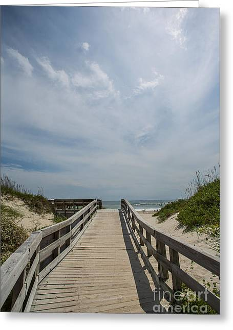 Kaypickens.com Photographs Greeting Cards - Boardwalk to the Beach Greeting Card by Kay Pickens