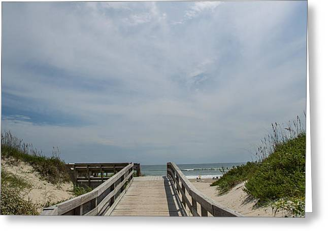 Boardwalk to the Beach Greeting Card by Kay Pickens