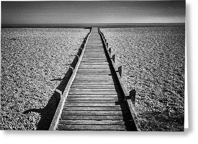 Boardwalk Greeting Cards - Boardwalk to the Sea Greeting Card by Colin and Linda McKie