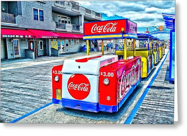 Tram Photographs Greeting Cards - Boardwalk Tram  Greeting Card by Nick Zelinsky