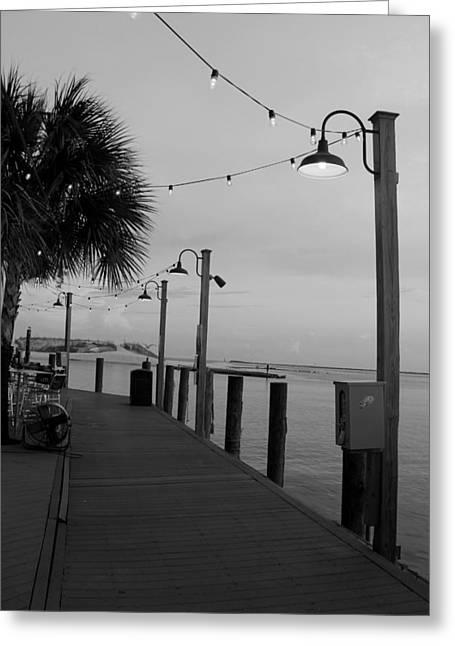T Street Beach Greeting Cards - Boardwalk Greeting Card by William Tucker