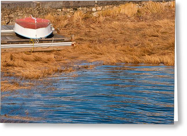 Cohasset Greeting Cards - Boat #3 Greeting Card by Rebecca Skinner