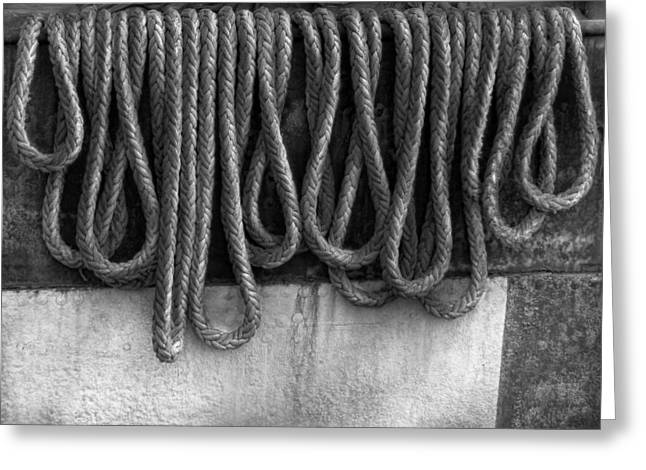 Noose Greeting Cards - Boat - Abstract - Fit to be tied Greeting Card by Mike Savad