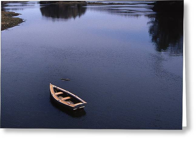 BOAT AND A CROSS Greeting Card by Skip Willits