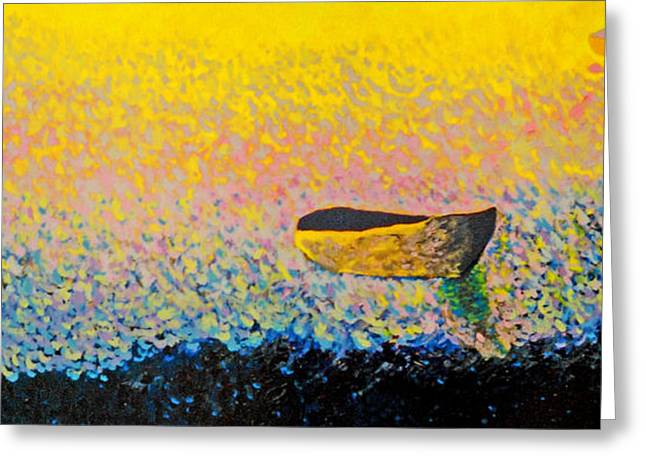 Boat Greeting Card by Andrew Petras