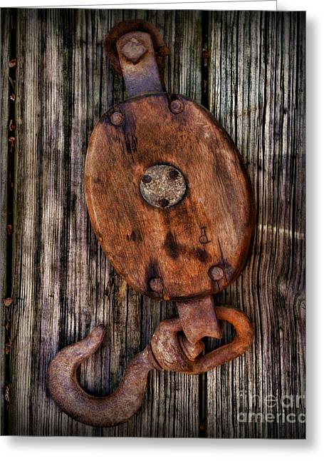 Wooden Ship Greeting Cards - Boat - Block and Tackle Greeting Card by Paul Ward