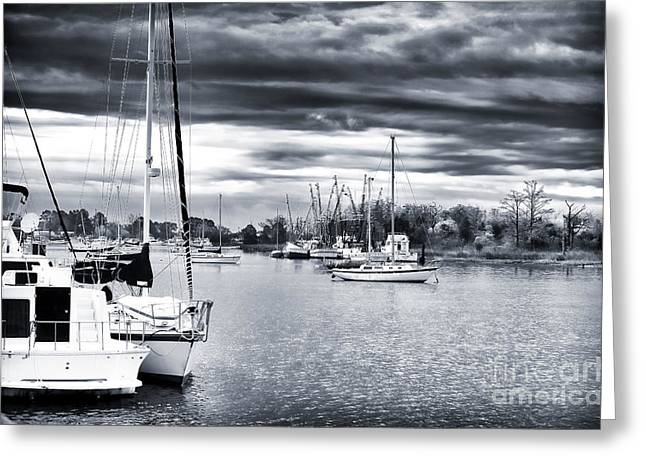 Sailboat Photos Greeting Cards - Boat Blues Greeting Card by John Rizzuto
