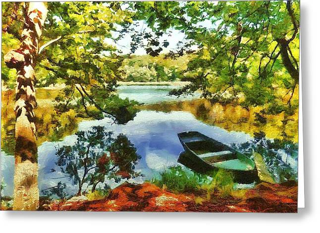 Camille Pissarro Digital Greeting Cards - Boat Camille Pissarro Greeting Card by Marina Kaehne