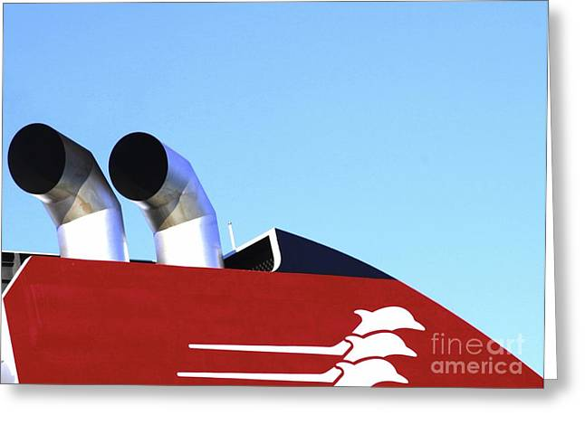 Boat Chimneys Greeting Card by Eleni Mac Synodinos