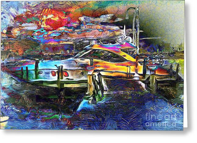Yachting Mixed Media Greeting Cards - Boat Dreams Greeting Card by Claire Bull